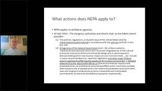 NEPA, ESA And Fundamentals Of Environmental Law (ELI Summer School, 2020)