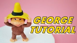 how to make MONKEY Curious George CAKE FONDANT - tutorial curioso come george pasta di zucchero