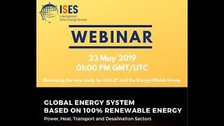 ISES Webinar: Global Energy System based on 100  Renewable Energy