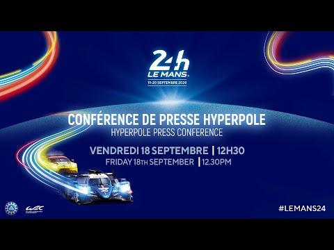 ル・マン24時間。レース前に行われるプレスカンファレンスの様子がみれるライブ配信動画