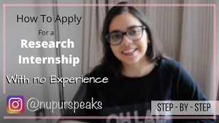 How To Apply For Research Internships With No Experience - Step by Step