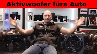 Aktive Subwoofer im Auto! | AXTON AB20A AB25A |  Review | ARS24