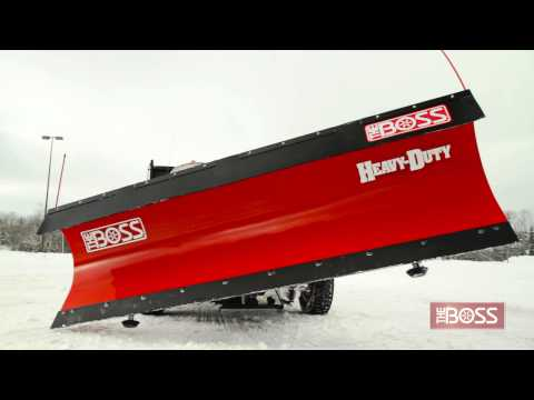 The BOSS 10' Straight Blade Snowplow in Action