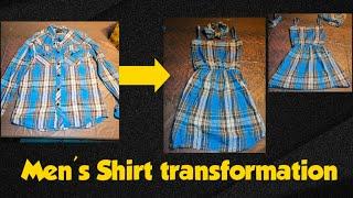 Refashion DIY Mens Shirt Into Dress And Headband | Thrift Flip: DIY Mens Shirt (polo)