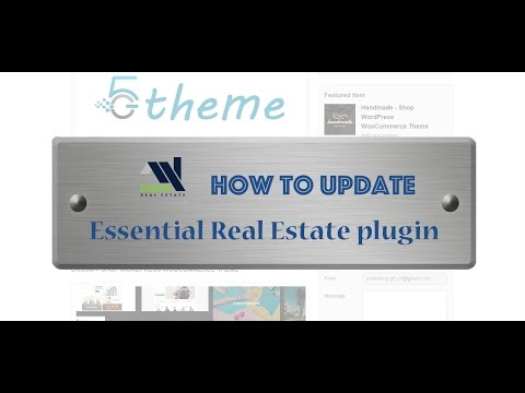 How to update Essential Real Estate plugin