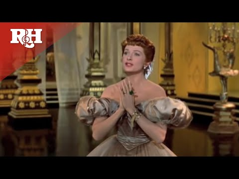 """Yul Brynner and Deborah Kerr perform """"Shall We Dance"""" from The King and I"""
