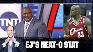 Shaq Gets Quizzed on His Old Jersey Numbers   EJ's Neat-O Stat