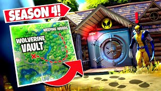 *NEW* WALKING BOSS WOLVERINE *HIDDEN VAULT* DISCOVERED AT WEEPING WOODS! (Fortnite)