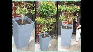 How To Make Beautiful Concrete Planters For Any Plants   DIY Cement Pot