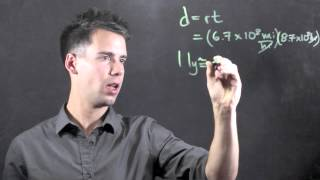 One Light Year Equals How Many Miles in Scientific Notation? : Math & Physics Lessons