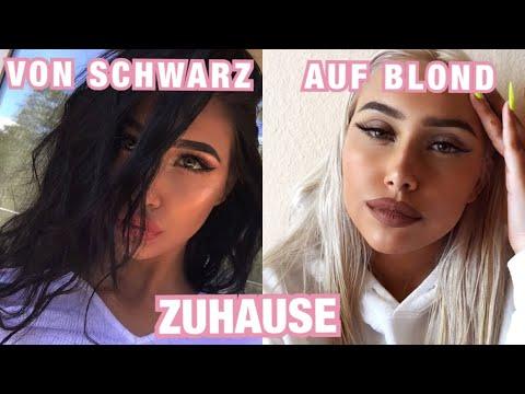 Experiment: von Schwarz auf Platin Blond ohne Friseur 💁🏼♀️