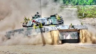 Polish Army PT 91 Twardy Tanks Maneuver