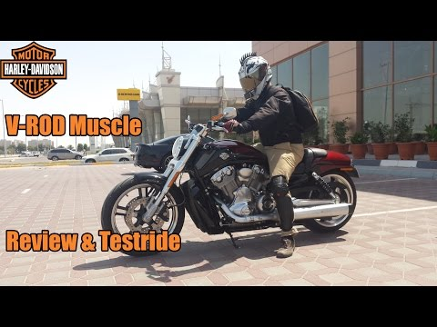 Harley Davidson V-Rod Muscle Review & Testride!