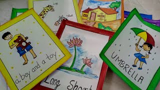 How To Make Flash Cards For Summer Vacation Work     CraftLas