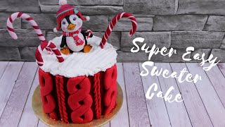 Simple Sweater Cake NO MOULDS