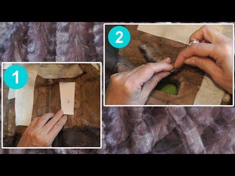 Как правильно поставить заплатку на шубу | Лайфхак
