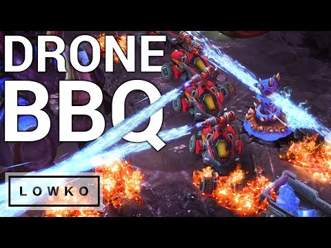StarCraft 2: DRONE BARBECUE!