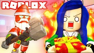 DON'T GET CAUGHT BY EVIL SANTA! ROBLOX FLEE THE FACILITY!