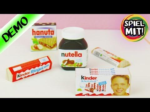 FAKE FOOD für den Kaufmannsladen | NUTELLA + KINDERSCHOKOLADE aus Holz?!