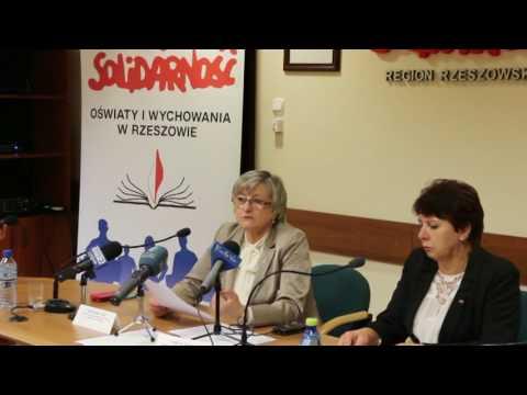 Konferencja Prasowa Regionalnej Sekcji Oświaty i Wychowania w Rzeszowie 10.10.2016 r.