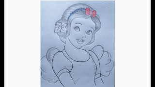 Disney Princess Drawing/How To Draw Beautiful Girl /Pencil Sketch / Easy Drawing