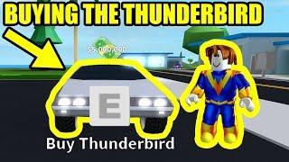 GETTING the 5 MILLION THUNDERBIRD *FLYING CAR*   Roblox Mad City