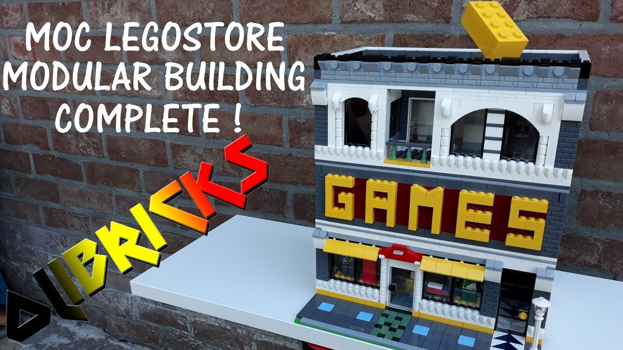 My LEGO MOC LEGOSTORE Modular Building #3 : Complete Building !