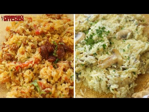 Video How to Make Cauliflower Rice Two Ways | Keto Recipes | Headbanger's Kitchen