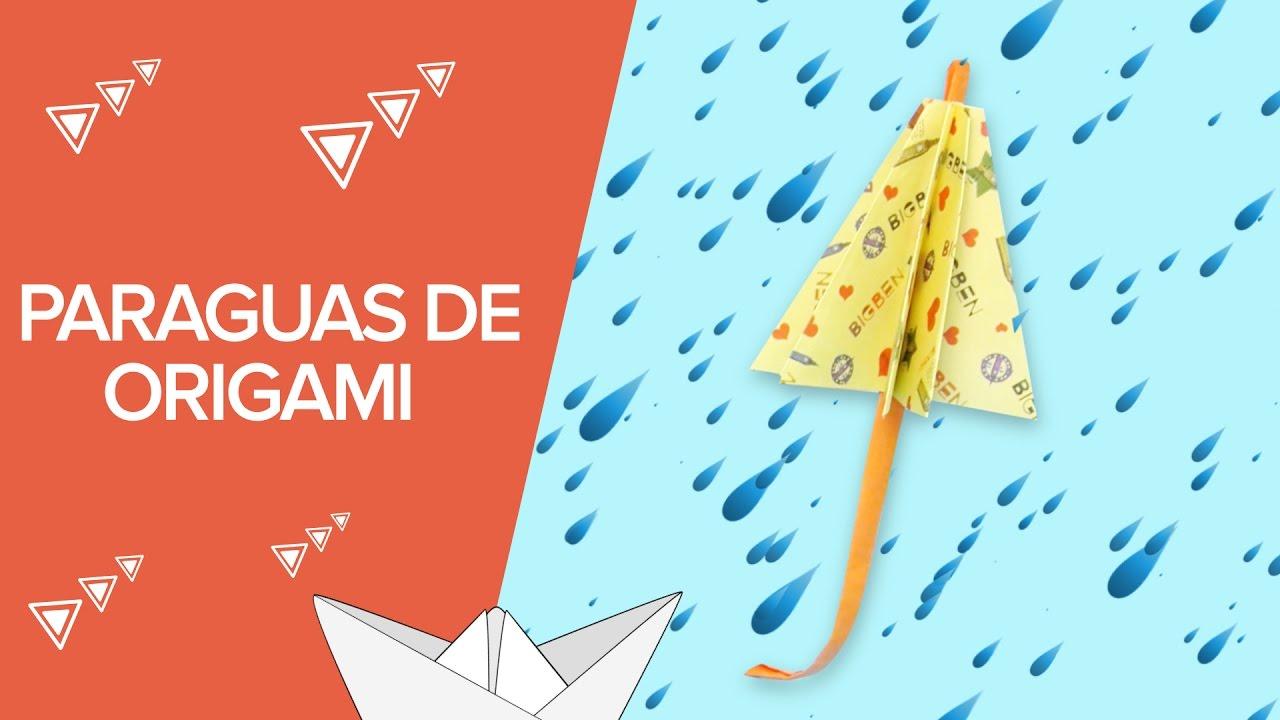 Paraguas de papel | Manualidades de origami