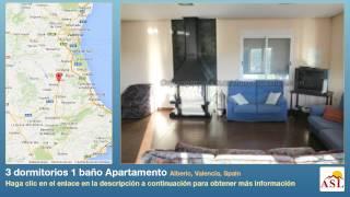 preview picture of video '3 dormitorios 1 baño Apartamento se Alquila en Alberic, Valencia, Spain'