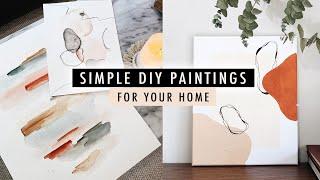 Simple DIY PAINTINGS (watercolor + Acrylic Art) | XO, MaCenna