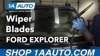 How to Replace Windshield Wiper Blades 06-10 Ford Explorer