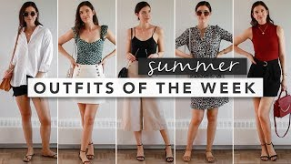 Summer Outfits from Monday to Friday | OOTW | by Erin Elizabeth