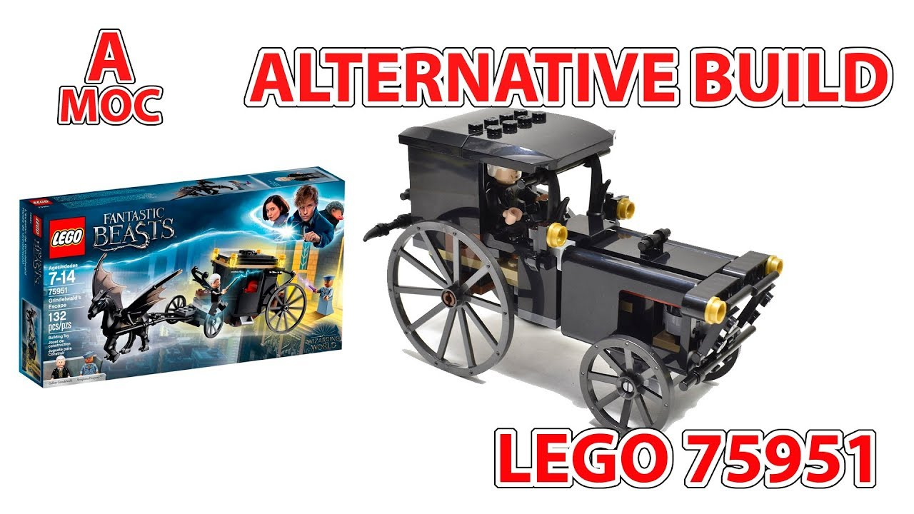 LEGO 75951 Antique car Alternative build for the Grindelwald's Escape review [A MOC]