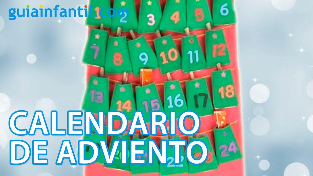 Calendario de Adviento. Manualidad reciclada para Navidad