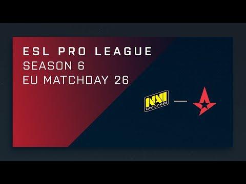 CS:GO: NaVi vs. Astralis - Day 25 - ESL Pro League Season 6 - EU 2nd Stream