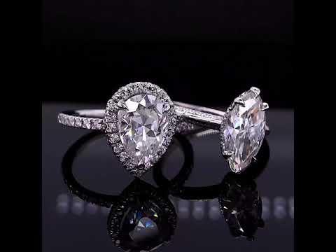 ENG082 & Custom Designed Marquise Moissanite Engagement Ring from 1/6/21