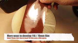 116 Film Project e03 - 70mm Film Aprons and Reels. More ways to develop 116 / 70mm film
