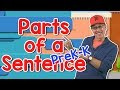 Parts of a Sentence | Pre-K and Kindergarten Version | Jack Hartmann