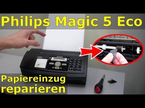 Philips Magic 5 Eco Fax - Papiereinzug reparieren - reinigen - FIX
