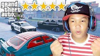 ឡានការពារគ្រាប់សាកជាមួយប៉ូលីសផ្កាយ៥ - Armored CAR GTA 5 FIVE STAR CHALLENGE
