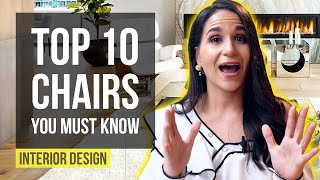 INTERIOR DESIGN TOP 10 CHAIRS YOU MUST KNOW! Iconic Chairs of All Time, Furniture Design, Home Decor