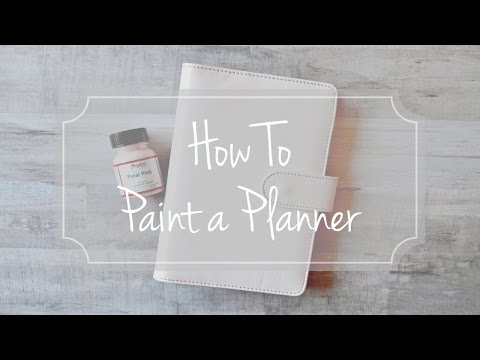Video Thumbnail of How to Paint a Planner