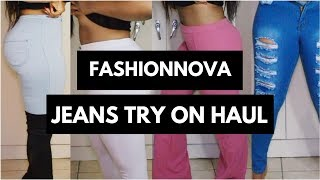 Best Jeans For Thick/Curvy Girls - FASHIONNOVA JEANS TRY ON HAUL