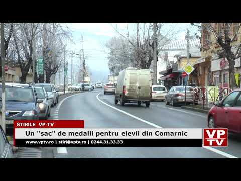 """Un """"sac"""" de medalii pentru elevii din Comarnic"""