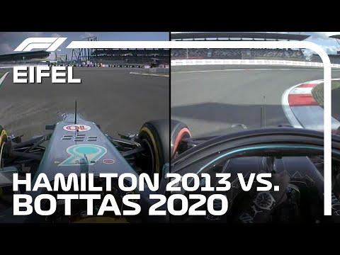 2013年のハミルトンとボッタスのオンボード映像比較。7年間で速さはどこまで違うのか?!