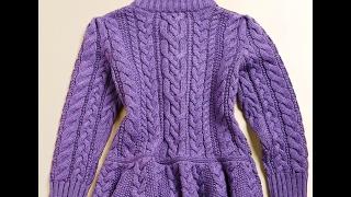 Пальто Спицами для Девочки - 3 года - 2017 / Spokes Coats for Girls - 3 years