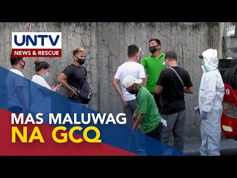 [UNTV]  Mas maluwag na GCQ, umiiral sa Metro Manila – Malacañang