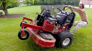 Lawn Mower Wheelies, Reckless Driving And More!
