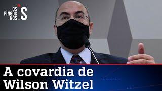 Witzel amarela e foge da CPI para não dar explicações